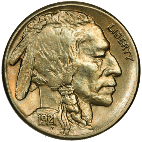 1921-S Buffalo Nickel - Choice About Uncirculated