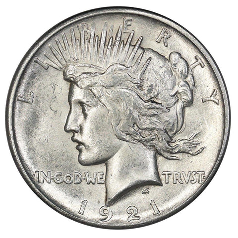 1921 High Relief Peace Dollar - Choice About Uncirculated