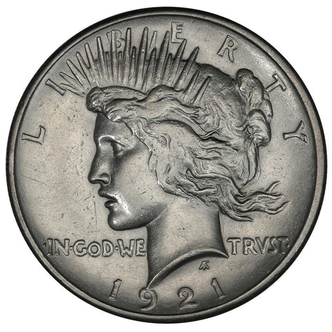 1921 High Relief Peace Dollar - About Uncirculated