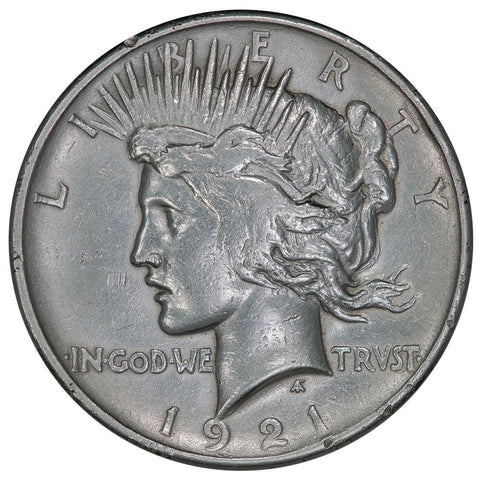 1921 High Relief Peace Dollar - Very Fine Detail