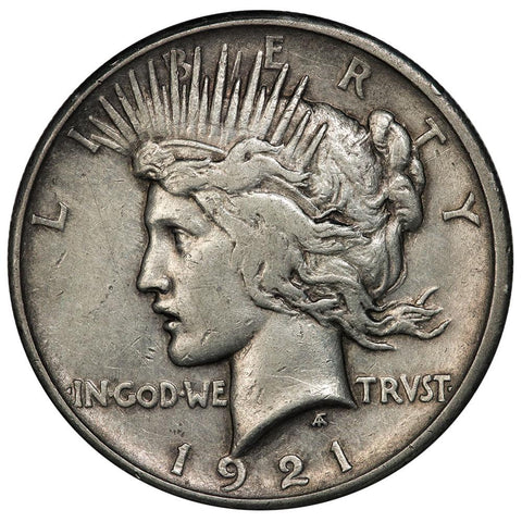 1921 High Relief Peace Dollar - Very Fine