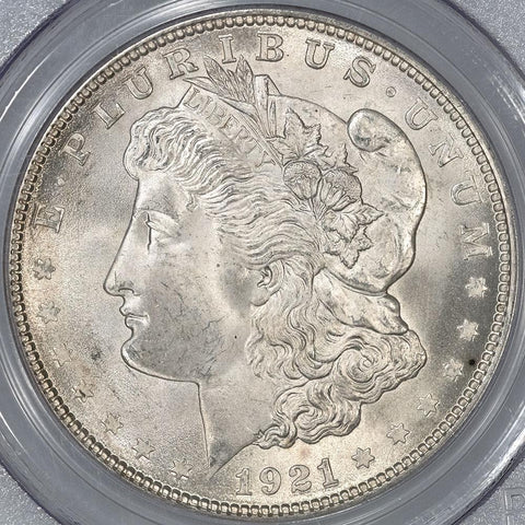 1921 Morgan Dollar in PCGS MS 65