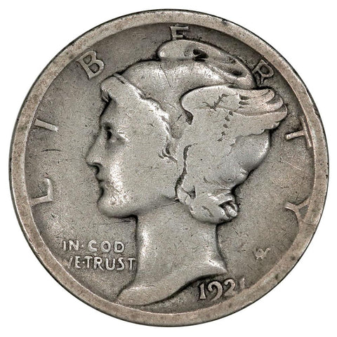 1921 Mercury Dime - Good - Semi-Key Date