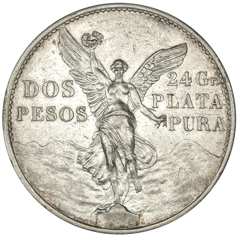 1921 Mexico Silver 2 Pesos KM.462 - About Uncirculated