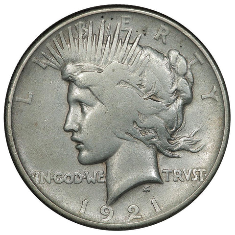 1921 High Relief Peace Dollar - Very Good