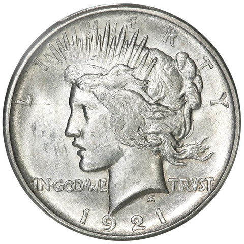 1921 High Relief Peace Dollar - PCGS MS 62 - Brilliant Uncirculated