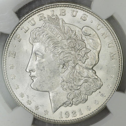 1921-D Morgan Dollar - NGC MS 62 - Brilliant Uncirculated
