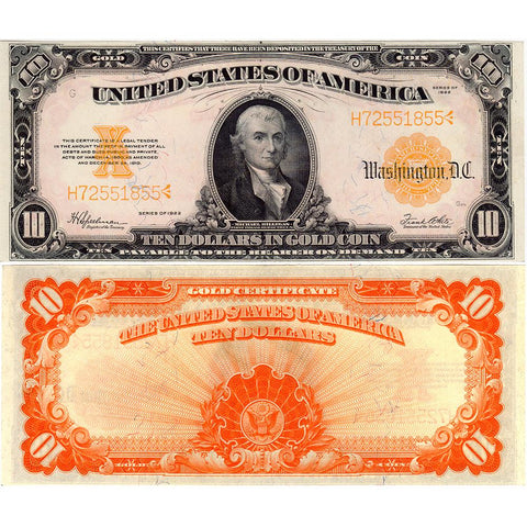 1922 $10 Gold Certificate Speelman/White Fr. 1173 - Crisp Uncirculated