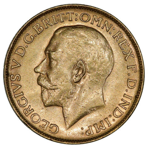 1922 Australia George V Gold Sovereign KM.29 - About Uncirculated