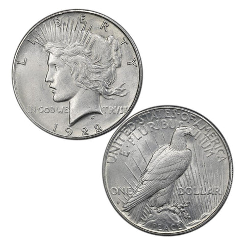 1922-S Peace Dollar Special - Premium Quality Brilliant Uncirculated