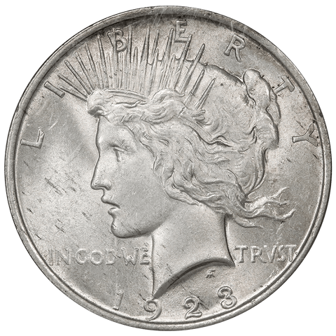 "1923 Peace Dollar Top-50 Vam-1F ""Chin Bar"" - NGC MS 62"