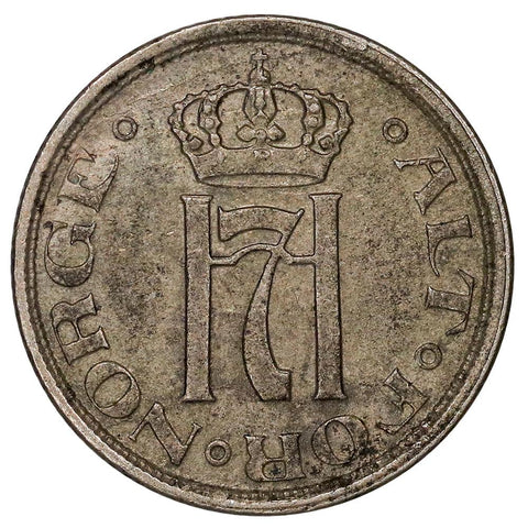 1923 Norway 25 Ore - KM.381 - Extremely Fine