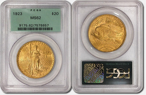 $20 Saint Gauden's Gold Double Eagles - PCGS MS 62 Old Green Holders - Special