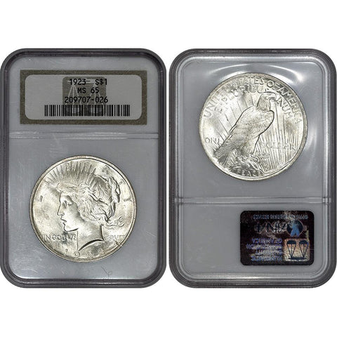 1923 Peace Dollar in NGC MS 65 - Gem Brilliant Uncirculated