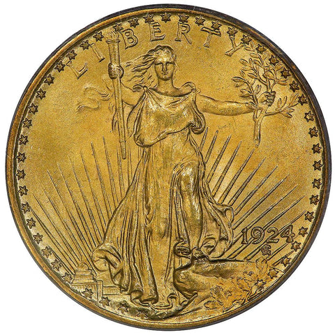 1924 $20 Saint Gauden's Gold Double Eagle - PCGS MS 62 OGH