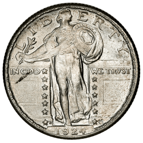 1924-D Standing Liberty Quarter - Choice Brilliant Uncirculated