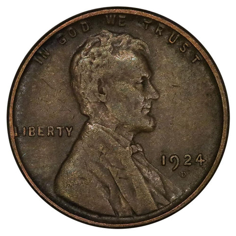 1924-D Lincoln Wheat Cent - Very Fine