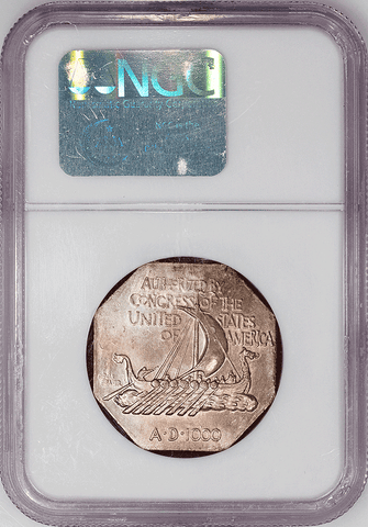 Pretty 1925 Norse American Medal (Thin Planchet) - NGC MS 64