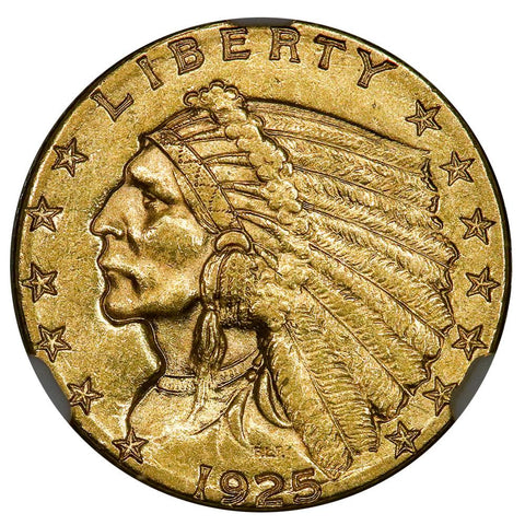 1925-D $2.5 Indian Gold Coin - NGC MS 61