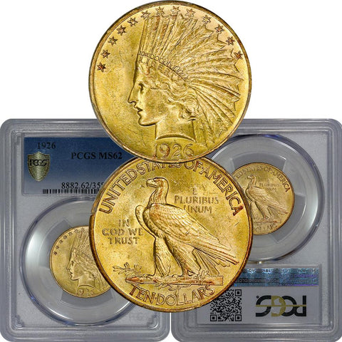 1926 $10 Indian Gold Coin - PCGS MS 62 - Brilliant Uncirculated