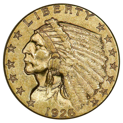 1926 $2.5 Indian Quarter Eagle Gold Coin - About Uncirculated