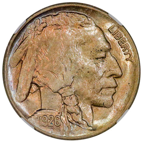 1926-D Buffalo Nickel - NGC MS 63 - Choice Toned Uncirculated