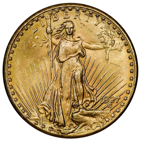 1927 $20 Saint Gaudens Double Eagle Gold Coin - PQ Brilliant Uncirculated