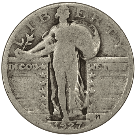 1927-D & 1927-S Standing Liberty Quarter Pair - Good or Better Condition