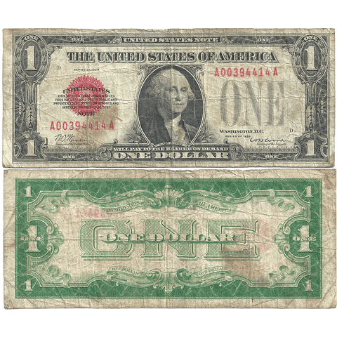1928 $1 Legal Tender Note Fr. 1500 - Very Good