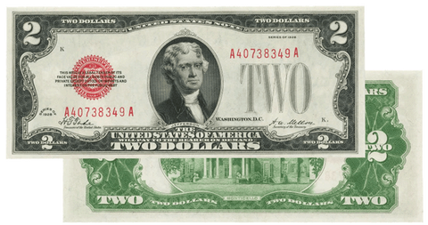 1928 $2 Legal Tender Notes - Very Fine or Crisp Uncirculated