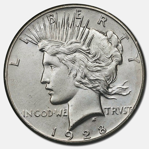 1928 Peace Dollars - Premium Quality Brilliant Uncirculated