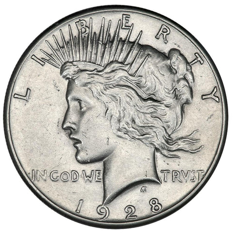 1928 Peace Dollar - About Uncirculated