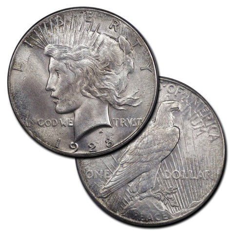1928 Peace Dollars - The Key To The Series - XF to Brilliant Uncirculated