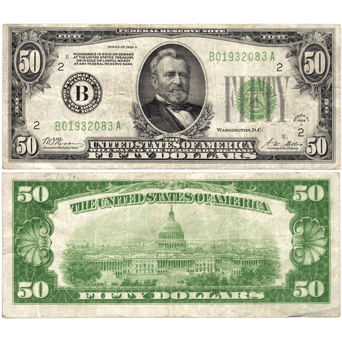 1928-A $50 Federal Reserve Note New York District FR. 2101B - Fine