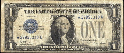 "1928-A $1 ""Funnyback"" Silver Certificate Fr. 1601* - Very Good"