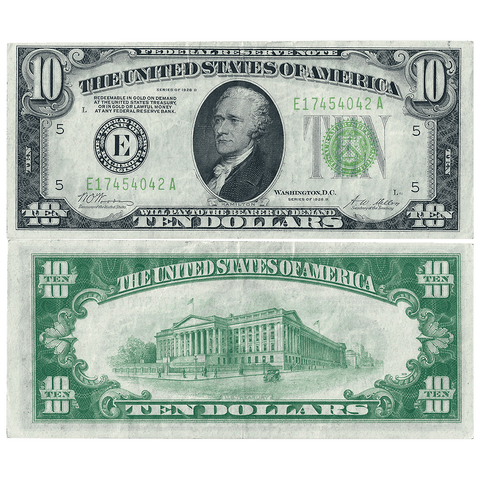 1928-B $10 Richmond Federal Reserve Note Fr.2002-E - Very Fine+