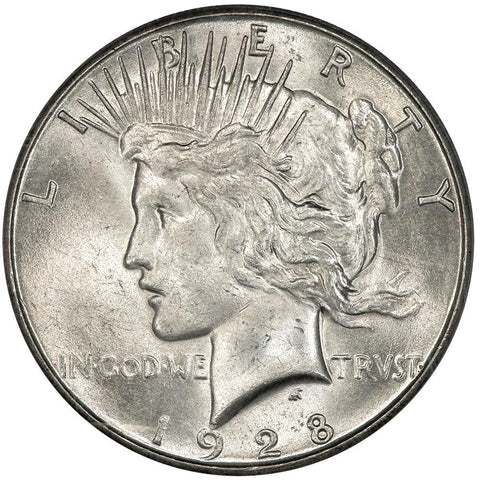 1928-S Peace Dollar - PCGS MS 63 - Choice Brilliant Uncirculated