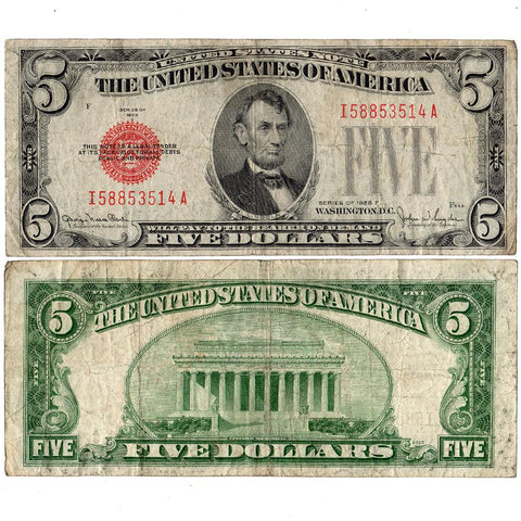 1928 $5 Legal Tender Note Fr. 1531 - Fine