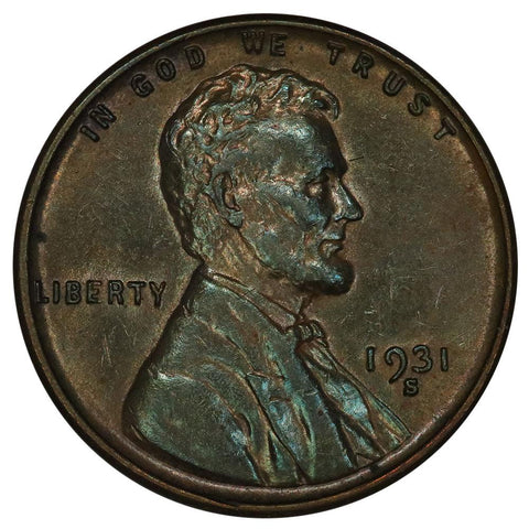 1931-S Lincoln Wheat Cent - About Uncirculated