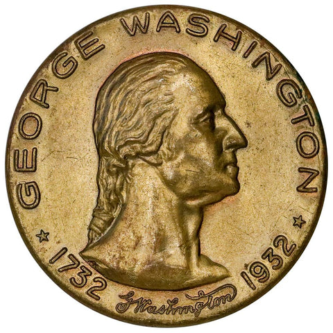 1932 George Washington Bronze Medal B-914 - Virginia's Greatest Son - Choice Uncirculated