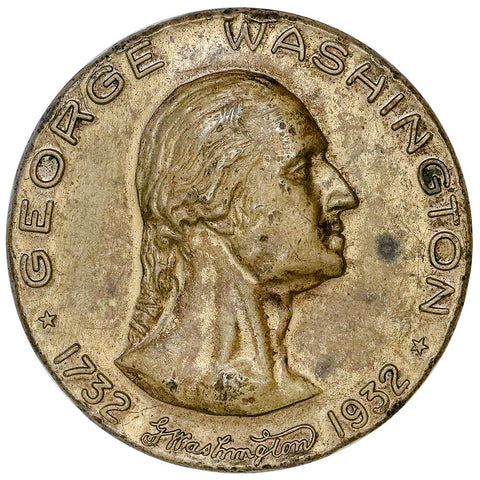 1932 George Washington Bronze Medal B-912 - Fort Necessity - About Uncirculated