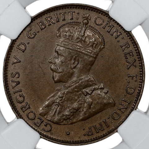 1933 Australia Half Cent KM.22 - NGC MS 62 Brown