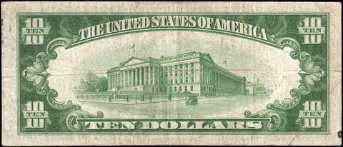 1934-A $10 Federal Reserve Note Chicago District Fr. 2006-G* - Very Good