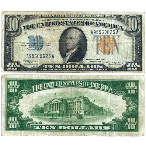 1934-A $10 North Africa Emergency Issue Silver Certificate, FR. 2309 - Very Fine