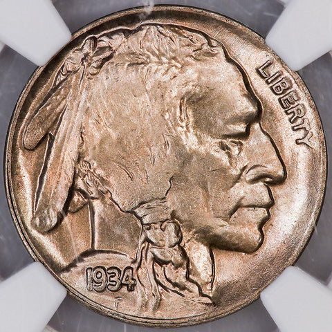 1934-D Buffalo Nickel ~ NGC MS 64 ~ Choice Toned Uncirculated