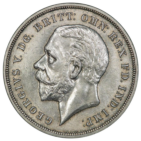 1935 Great Britain Silver Crown KM. 842 - Choice About Uncirculated