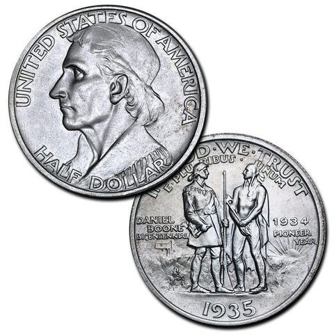(1934-1938) Daniel Boone Silver Commemorative Half Dollar - Brilliant Uncirculated