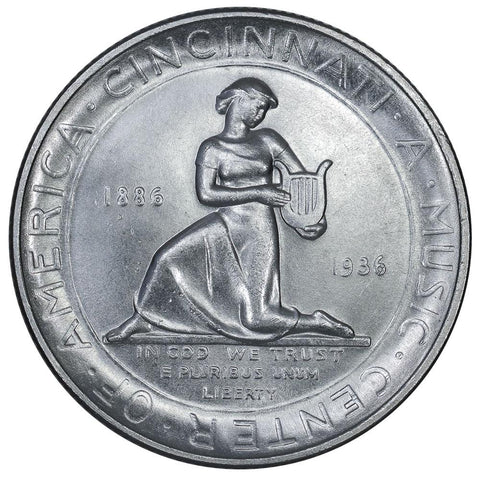 1936 Cincinnati Silver Commemorative Half Dollar - Brilliant Uncirculated