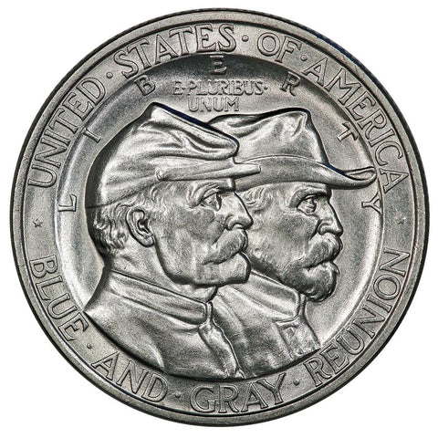 1936 Gettysburg Silver Commemorative Half Dollar - Uncirculated Detail