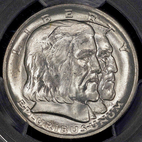 1936 Long Island Silver Commemorative Half Dollar - PCGS MS 63